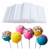 100X Cakepop Stokjes Set - Lolly Stokjes/ Lollipop Sticks - 70mm