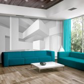Fotobehang - Witte geometrie