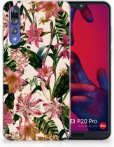 Huawei P20 Pro Uniek TPU Hoesje Flowers