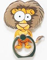 Leeuw: Ring vinger houder / standaard voor telefoon of tablet