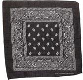 Boeren bandana zakdoek  Zwart