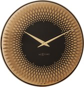NeXtime Sahara - Wandklok - Rond - Spiegel Glas - Stil uurwerk - Ø 43 cm - Koper
