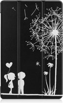 Shop4 - Samsung Galaxy Tab A 10.5 Hoes - Smart Book Case Paardenbloem Zwart