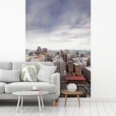 Fotobehang vinyl - Een overzicht van Johannesburg overdag breedte 175 cm x hoogte 260 cm - Foto print op behang (in 7 formaten beschikbaar)