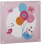 Lief! Canvas Schilderij voor in de Kinder Slaapkamer Roze – 30x30x2cm | Wanddecoratie voor in de Slaapkamer Jongens of Meisjes