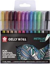 Sakura Gelly Roll 12 gelpennen Metallic - glanzend effect