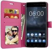 Nokia 3.1 portemonnee hoesje - Roze