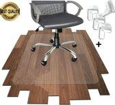Bureaustoelmat PVC - Vloermat - Antislipmat - Vloerbeschermer - Stoel onderlegger - Voor harde vloer - Voor vloerbedekking - Inclusief hoekbeschermers bureau - 90x120cm