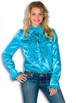 Rouches blouse blauw dames 36 (s)