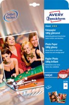 Avery Zweckform A4 Double Sided Photo Quality Glossy Inkjet Paper - 2570 180g Glans Wit papier voor inkjetprinter
