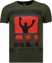 Local Fanatic Muhammad Ali - Rhinestone T-shirt - Groen - Maten: S