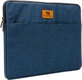 """Tech Supplies - MTS15G Premium Selection Soft Sleeve Voor de Apple Macbook Air / Pro (Retina) 15 Inch - 15.6"""" Case - Fluweel zacht van binnen Bescherming Cover Hoes - Ook geschikt voor alternatieve laptop merken - Blauw"""