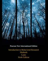 Introduction to Behavioral Research Methods: Pearson  International Edition