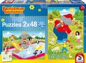 Zomertijd - Kinderpuzzel - 2x 48 Stukjes