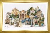 Thea Gouverneur Borduurpakket 533A Jeruzalem - Aida stof 100% katoen