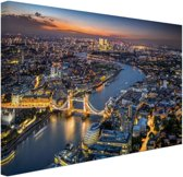 FotoCadeau.nl - De skyline van London Canvas 30x20 cm - Foto print op Canvas schilderij (Wanddecoratie)