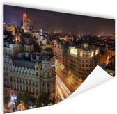 Gran Via van Madrid Poster 90x60 cm - Foto print op Poster (wanddecoratie woonkamer / slaapkamer) / Steden Poster
