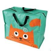 XXL tas / Jumbo shopper - Chester the Cat / Dikkie Dik van Rex London