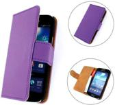 TCC Luxe Hoesje Samsung Galaxy S3 Mini Book Case Flip Cover i8190 - Paars