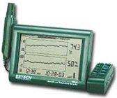 RH520A-220: Vochtigheids- en temperatuurmeter met grafiekdisplay en afneembare probe