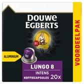 Douwe Egberts Lungo Intens Koffiecups - 10 x 20 cups - voordeelpak - 200 koffiecups
