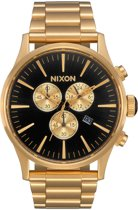 Nixon Sentry Chronograaf All Gold/Black Horloge A386-510