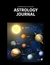 Undated Daily Planner Astrology Journal