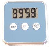 Kitchen Timer - Digitale Kookwekker Blauw - Met magneet en stand - Inclusief batterij