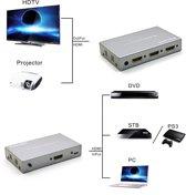 Kanaan 3x1 HDMI Switch Ultra HD - 3-poorts ingang naar 1 poort-uitgang   Afstandsbediening   Geschikt voor FullHD, UHD, 4K, 4K * 2K 1080p   HDMI 1.4-standaard