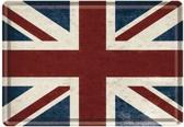 Union Jack Metalen Postcard 10 x14 cm