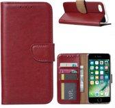 Xssive Hoesje voor Apple iPhone 7 - iPhone 8 - Book Case - Bordeaux Rood