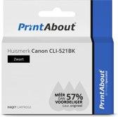 Huismerk Canon CLI-521BK Inktcartridge Zwart