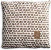 Knit Factory Mila - Kussen - 50x50 cm - Marron/Beige