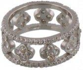 925 zilveren ring met steentjes