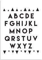 Kinderkamer poster ABC Poster DesignClaud - Zwart wit - A3 poster