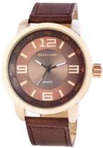 Excellanc - Horloge 50 mm - Quartz Uurwerk - Bruin/Rosékleurig