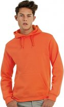Oranje capuchon sweater S
