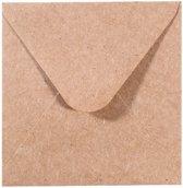 Florence Enveloppen van Stevige Kwaliteit, Kraft Bruin Vierkant, 25 stuks, 9.5 x 9.5 cm voor Wenskaarten