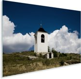 Klokkentoren in het klooster van de oude Orheiul Vechi in Moldavië Plexiglas 120x80 cm - Foto print op Glas (Plexiglas wanddecoratie)