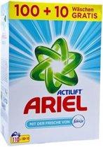 Ariel Wasmiddel - Poeder - Voordeelverpakking - 100+10 Wasbeurten - Fabreze