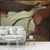 Fotobehang vinyl - Repose - Schilderij van John White Alexander breedte 300 cm x hoogte 250 cm - Foto print op behang (in 7 formaten beschikbaar)