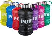 Bluefinity sportfles 2.2 liter - power - XXL drinkfles - BPA-vrij - fitness - waterfles zwart