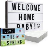 Gadgy - Lightbox A4 - Inclusief letters en adapter - Zwart