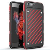 Hardcase Backcover tweekleurig zwart/rood gestreept iPhone 6s