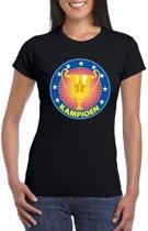 Zwart kampioen shirt voor dames S