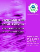 Compendium of Unimplemented Recommendations as of September 30, 2012