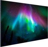 Felle kleuren noorderlicht Aluminium 60x40 cm - Foto print op Aluminium (metaal wanddecoratie)