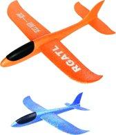 VLIEGTUIG 2X   Werp Vliegtuigen multiplex   zweefvliegtuigen   Gooi vliegtuigen   Flexibel piepschuim   Glider   Vliegpakket  