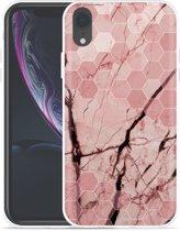 Apple iPhone Xr Hoesje Pink Marble