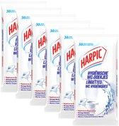 Harpic Hygienische Schoonmaakdoekjes Toilet - 6 x 30 stuks - Voordeelverpakking